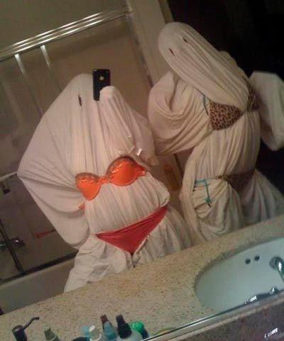 disfraz de fantasma choni